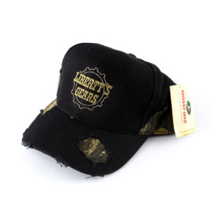 Liberty's Gears Black Camo Mossy Oak Hat