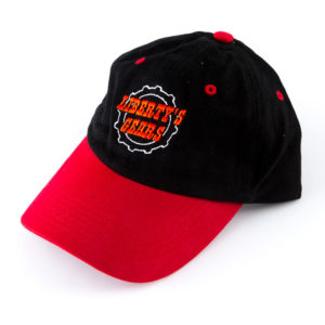 Liberty's Gears Red Black Unstructured Hat